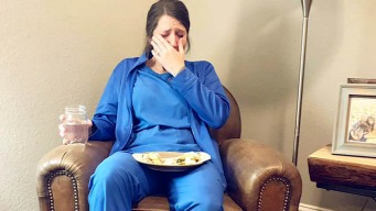 Photo Shows Emotional, Exhausted Nurse After 53-Hr Workweek