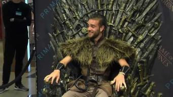 Fans Line Up to Sit on Iron Throne of Westeros