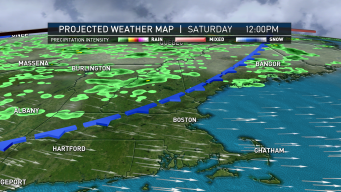 Temperatures Cool Off, Scattered Showers for Some Saturday