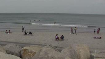 Hundreds Enjoy Hot Day at Nantasket Beach in Hull
