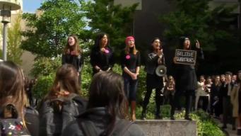 Harvard Law Students Rally Against Kavanaugh