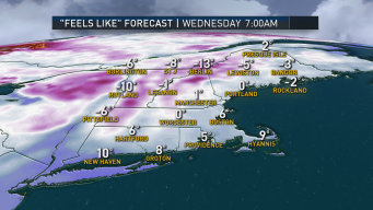 Record Cold Air Rushes in for Wednesday, Icy Spots Develop