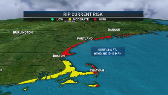 Offshore Storm Brings Moderate to High Rip Current Risk to Coastline