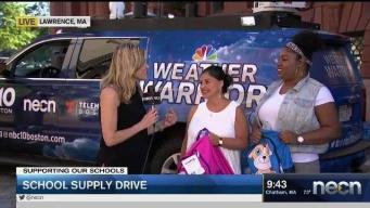 Lawrence Locals Donate Stuffed Backpacks, Notebooks