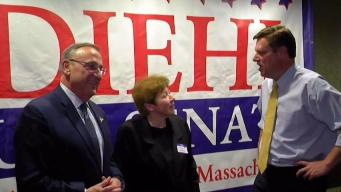 Maine Governor Campaigns for Mass. US Senate Candidate Diehl
