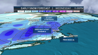 More Than Half a Foot of Snow Possible for Some Wednesday