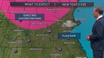 Widespread Rain Ahead for New Year's Eve, Snow North
