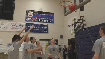 Beeping Hoop Helps Blind Student Play Basketball