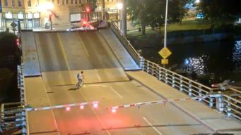 Woman Falls Through Gap on Drawbridge