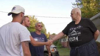 Neighbors Replace Walkway for Disabled Veteran