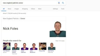 Nick Foles 'Owns' the Patriots, According to Google