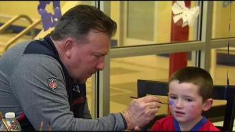 Young Fans Display Their Patriots Pride
