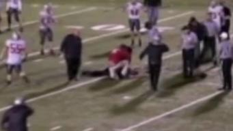 High School Football Players, Parent Save Ref Who Collapsed