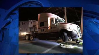 Police Seek Driver of Truck That Crashed Into House