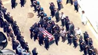 WATCH: Procession for Slain Officer to Weymouth