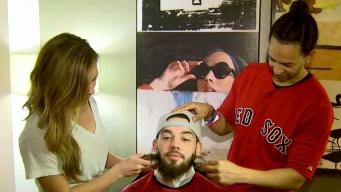 Red Sox Catcher Blake Swihart Trims Beard