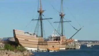 Mayflower II on the Mystic