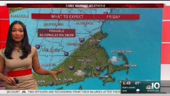 Snow Already Falling in New Hampshire