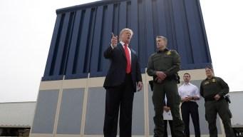 Trump Views Designs for Border Wall While Bashing California