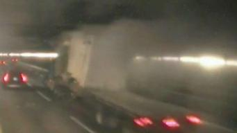 WATCH: Tractor Trailer Takes Out Part of O'Neill Tunnel