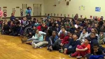 Weather Warrior Visits Harvard-Kent Elementary School