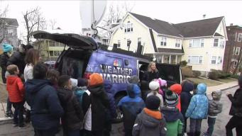 Weather Warrior Visits Mendell Elementary School