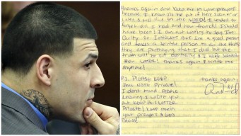 Early Aaron Hernandez Prison Letter Up for Auction