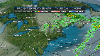 Warm Front Bringing Humidity, Scattered Showers