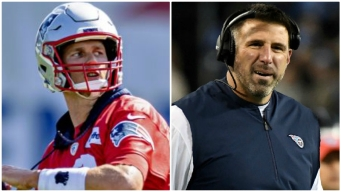 Watch Brady, Vrabel Trash Talking at Patriots-Titans Practice