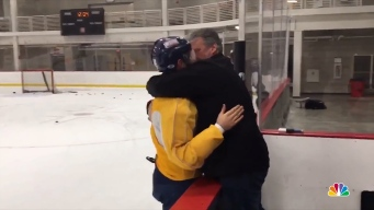 Emotional Dad of US Hockey Player Still Tearing Up at Olympics