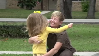 Texas Girl, UPS Delivery Driver Are Best Friends