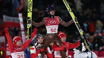 Poland's Stoch Gets 'Rudy' Treatment After Golden Repeat