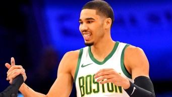 Watch Jayson Tatum Drill Half-court Shot to Win NBA Skills Challenge