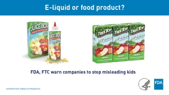 Liquid Nicotine Packets Resemble Juice Boxes, Candy