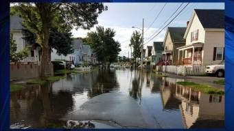 Water Main Break Floods Part of Mass. Neighborhood