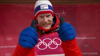 One Mustache Rises Above the Rest in Large Hill Ski Jumping