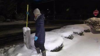 Snow Dumps on Littleton, Massachusetts