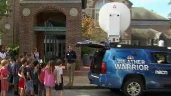 Sprague Elementary Shows Excitement for Weather Warrior
