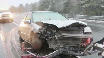 Several Crashes Across Massachusetts During Storm