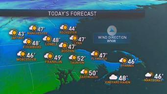 Skies Clear Monday for Dry, Moderate Weather