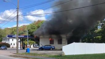1 Hurt in Huge Mansfield Gas Station Fire