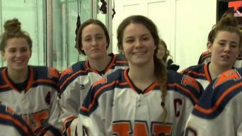 6 Sets of Sisters Play Together on School Hockey Team