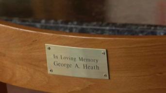 Stabbing Victim's Widow Receives Memorial Barstool