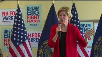 Warren Finishes 2-Day Swing Through NH