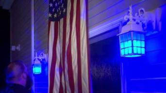 Homes Shine Blue Light for Fallen Sgt. Chesna