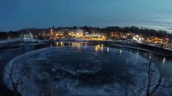 Man Gets Maine's Giant Ice Disk to Spin Again