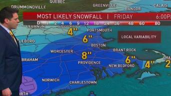 Clouds Give Way to Developing Rain and Snow