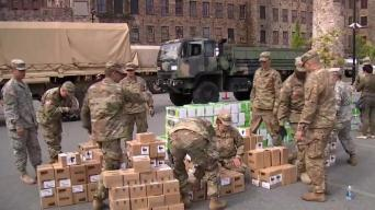 National Guard Helps Hand Out Space Heaters in Mass.