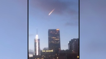 Meteor-Like Object Over LA Turns Out to be Red Bull Stunt
