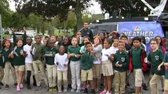 Weather Warrior Visits Bentley Academy Charter School